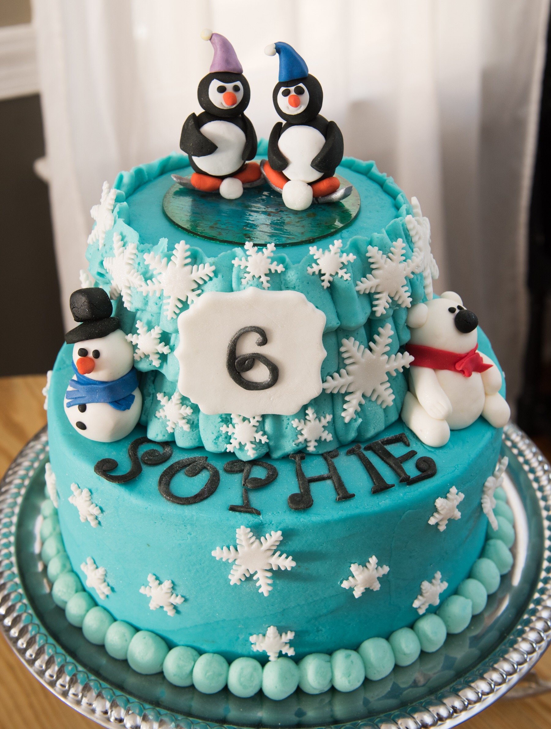 Winter Wonderland Birthday Cake Aspen Street Cakes