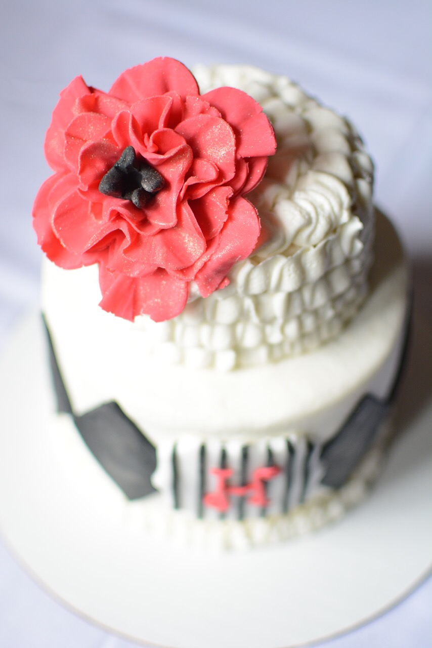 Black White And Red Birthday Cake Aspen Street Cakes