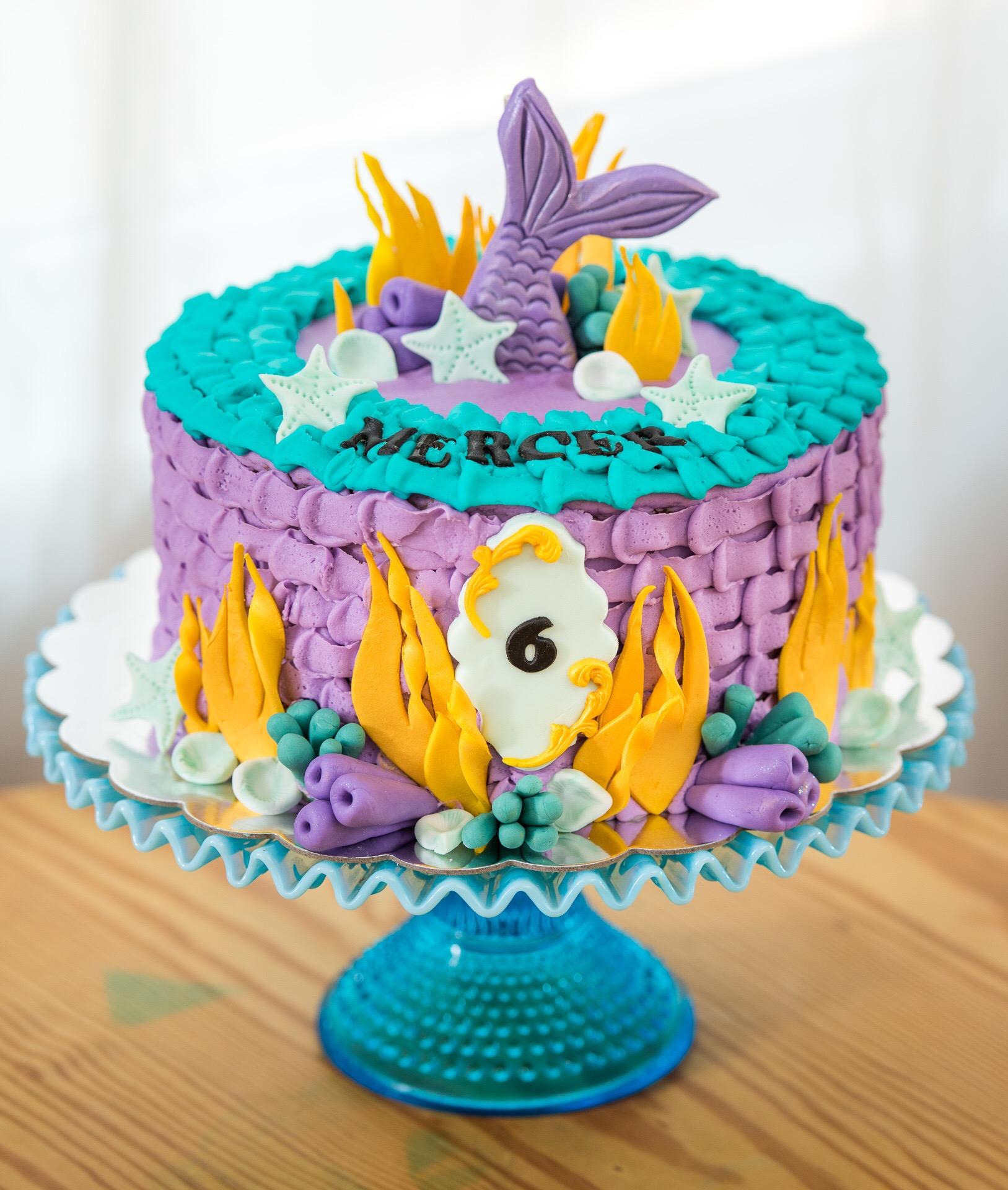 Mermaid Birthday Cake Aspen Street Cakes