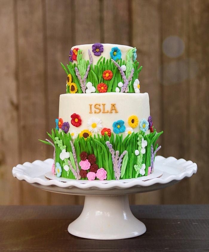 Super Wildflower Cake Aspen Street Cakes Funny Birthday Cards Online Kookostrdamsfinfo