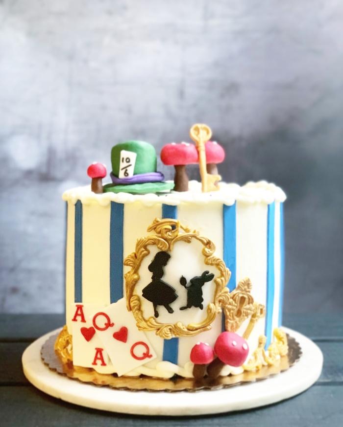 Awesome Alice In Wonderland Cake Aspen Street Cakes Funny Birthday Cards Online Kookostrdamsfinfo